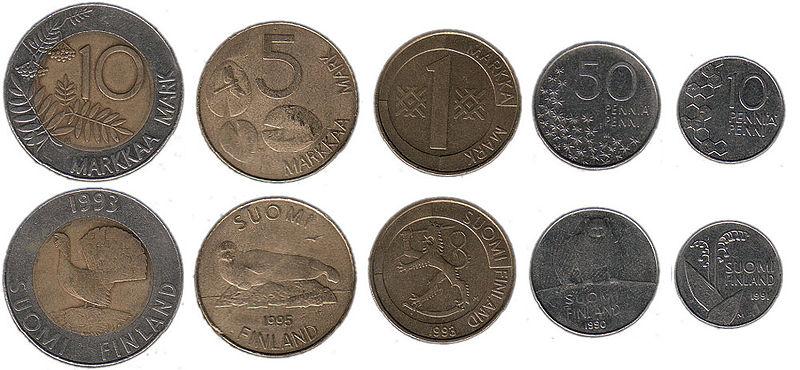 Die Finnische Mark Die Ehemalige Währung In Finnland